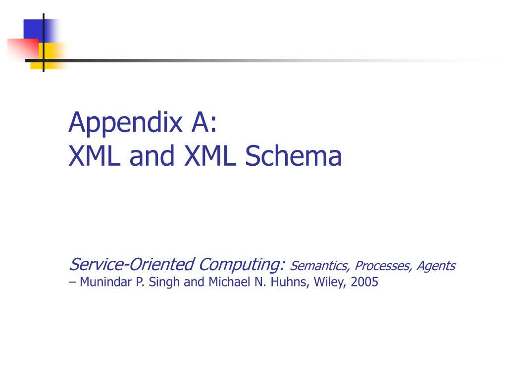 appendix a xml and xml schema l.