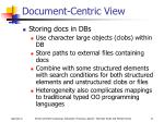 document centric view