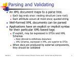 parsing and validating