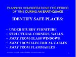planning considerations for period of time during an earthquake3