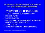 planning considerations for period of time during an earthquake5
