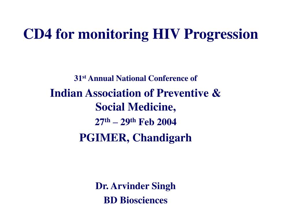 cd4 for monitoring hiv progression l.