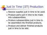 just in time jit production