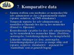 7 komparative data
