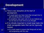 development4
