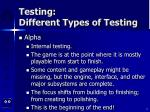 testing different types of testing8