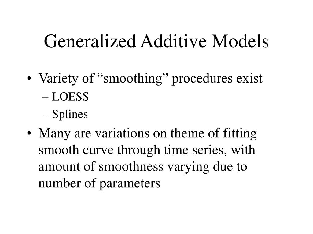 generalized additive models l.