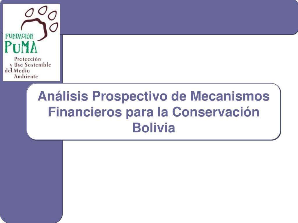 an lisis prospectivo de mecanismos financieros para la conservaci n bolivia l.