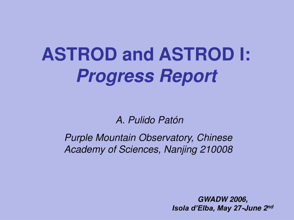 astrod and astrod i progress report l.