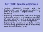 astrod i science objectives