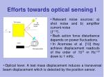 efforts towards optical sensing i