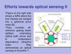 efforts towards optical sensing ii