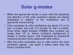 solar g modes