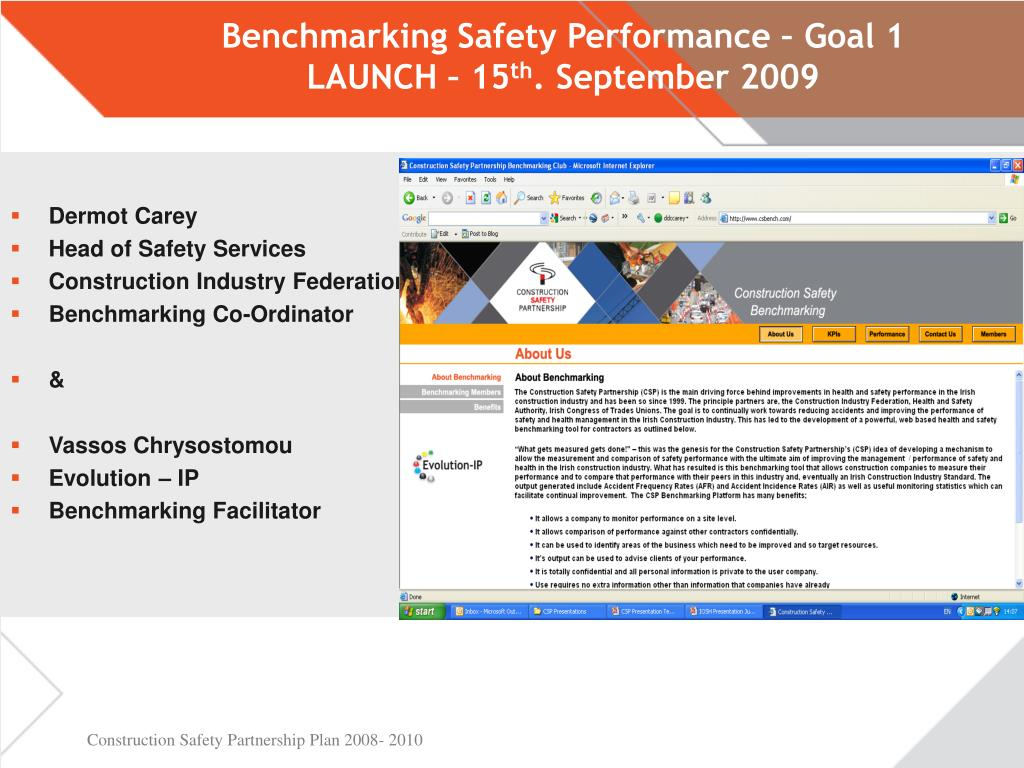 benchmarking safety performance goal 1 launch 15 th september 2009 l.
