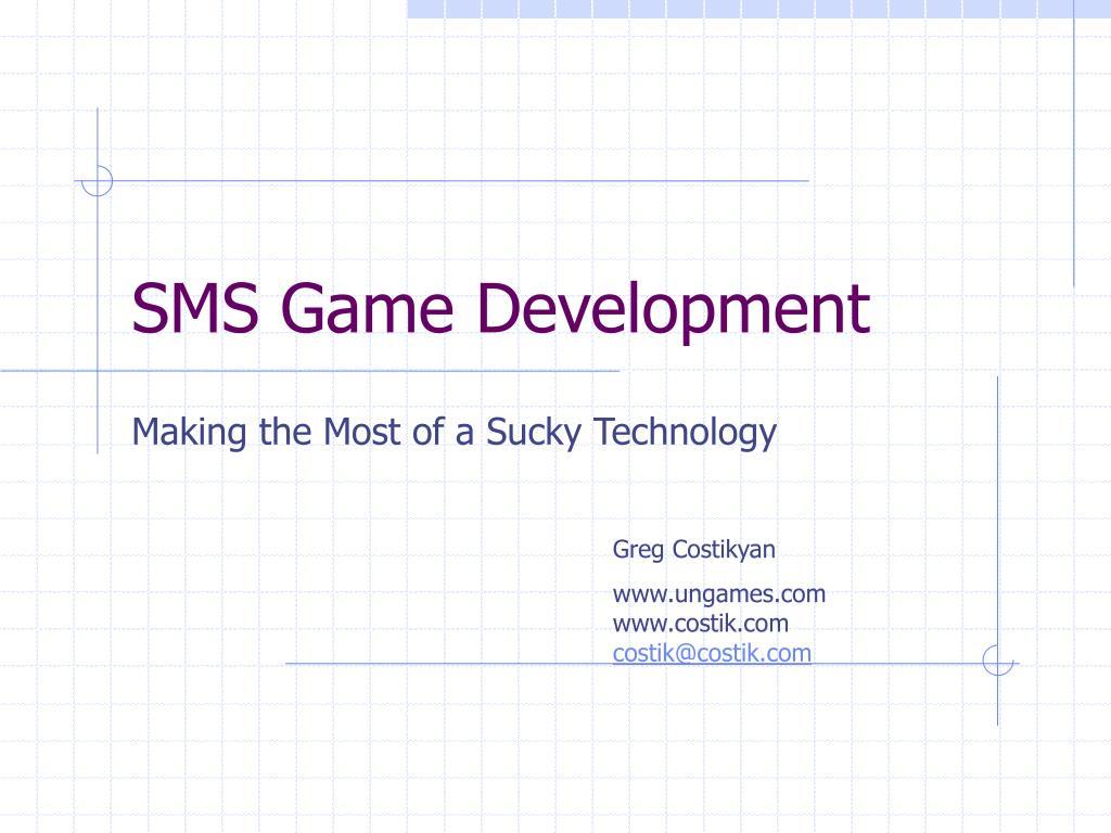 sms game development l.