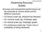 assessing accuracy scales