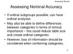 assessing nominal accuracy50