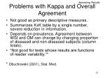 problems with kappa and overall agreement