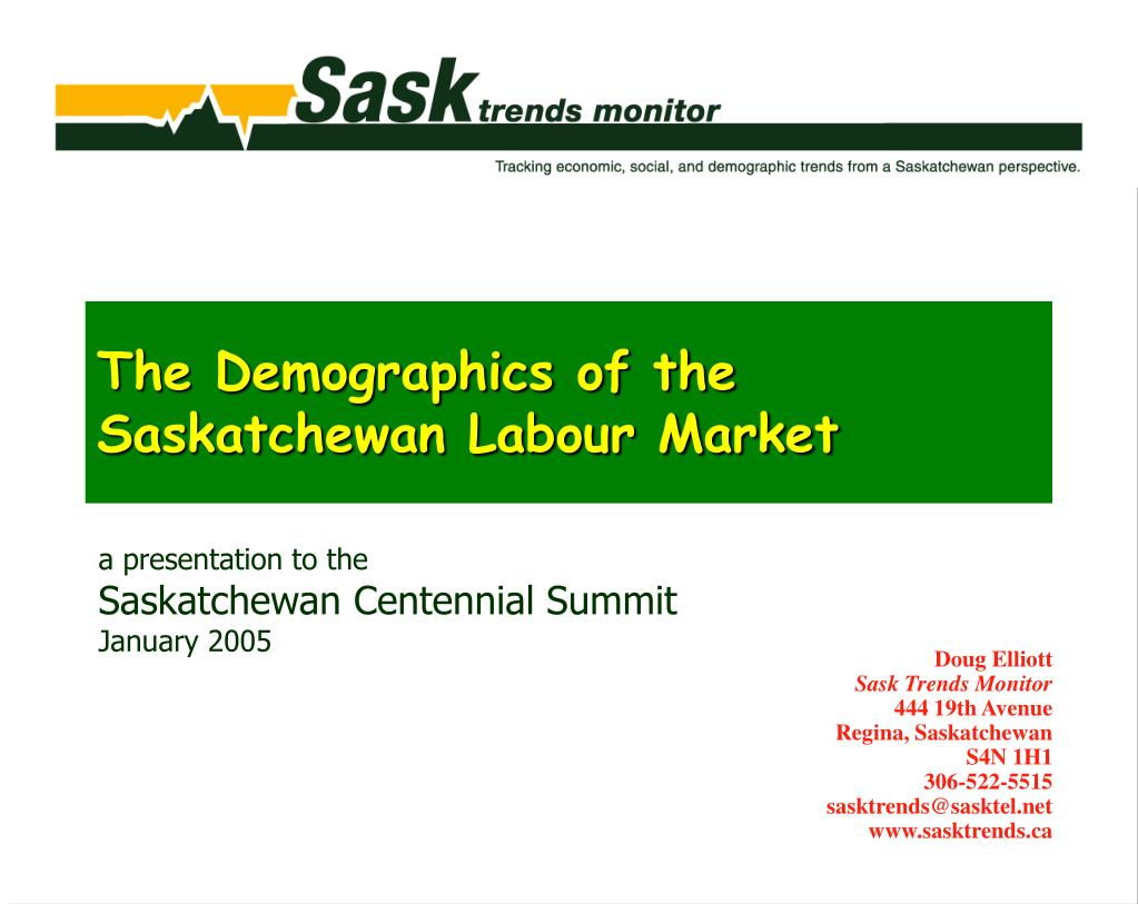the demographics of the saskatchewan labour market l.