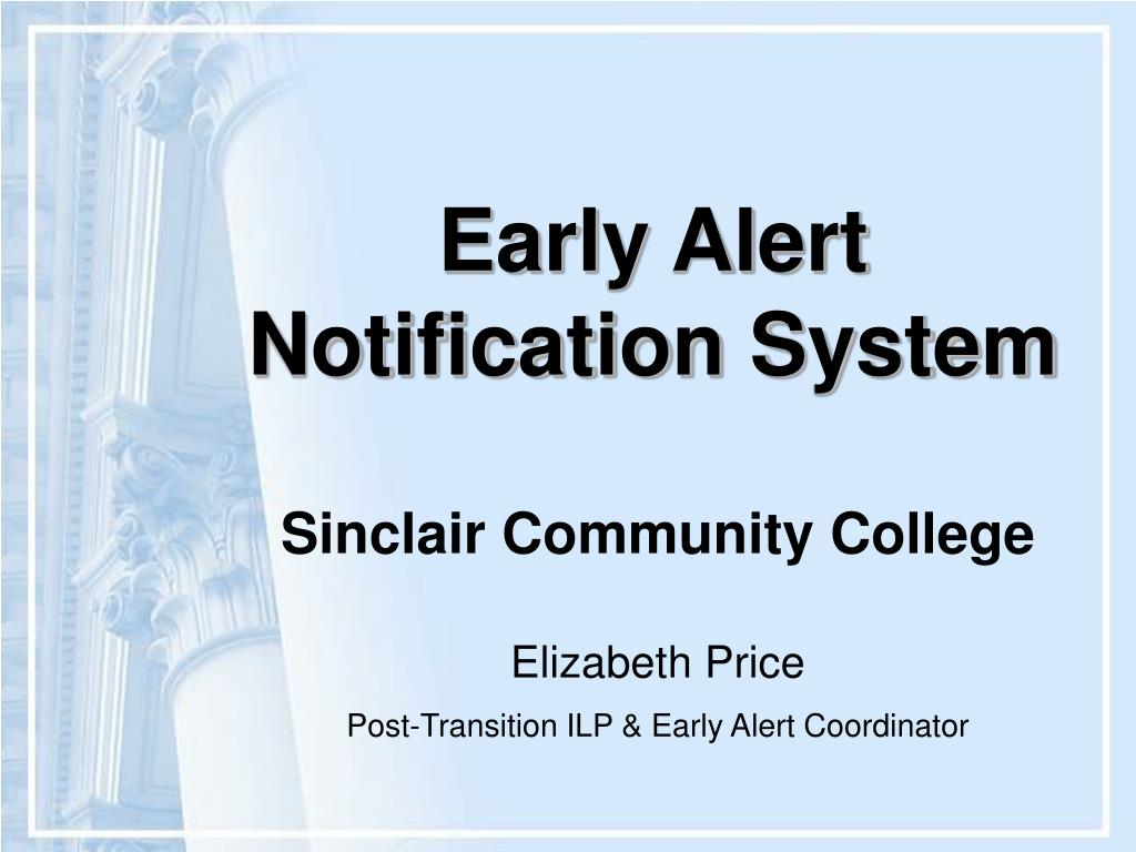 early alert notification system l.