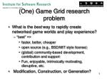 one game grid research problem