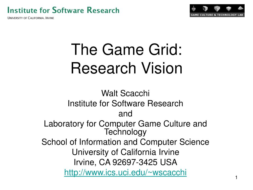 the game grid research vision l.