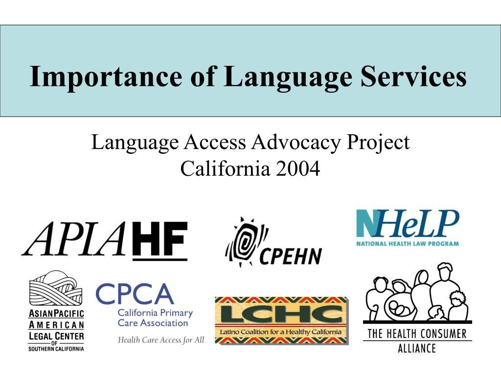 importance of language services l.