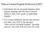 who is limited english proficient lep