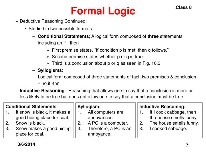 Formal logic3