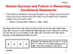 human success and failure in reasoning conditional statements