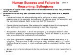 human success and failure in reasoning syllogisms