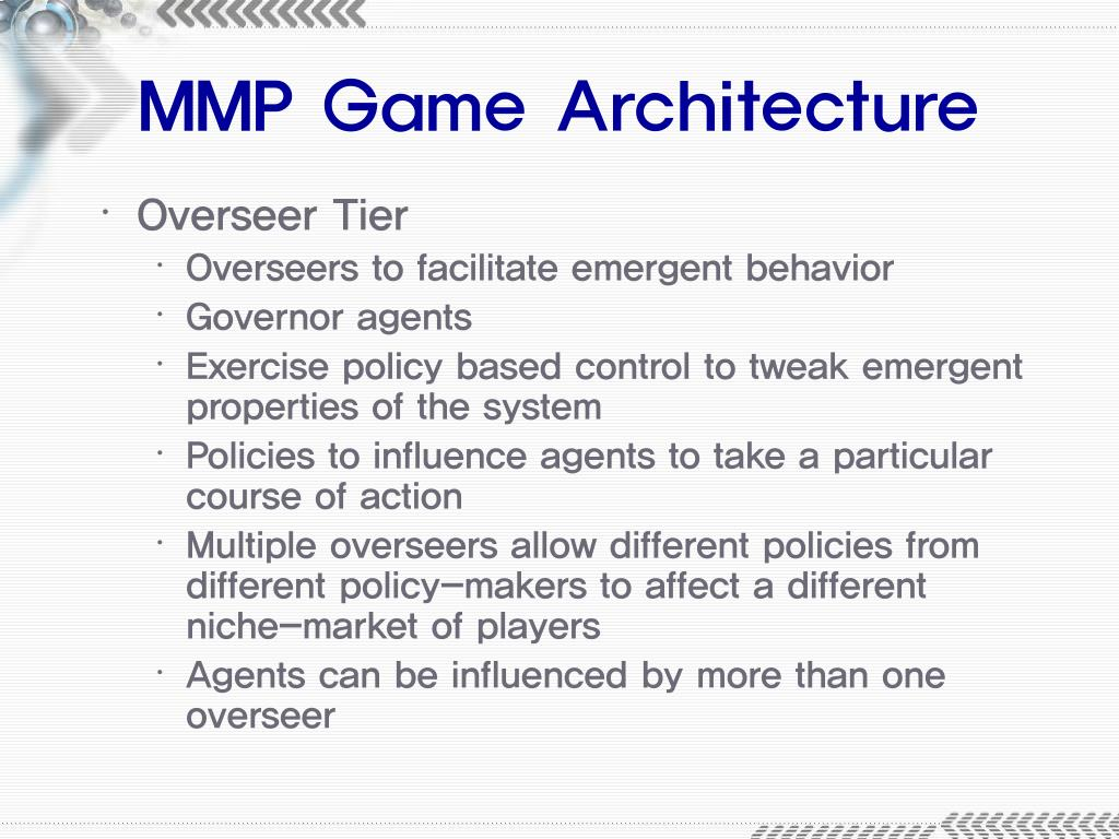 MMP Game Architecture