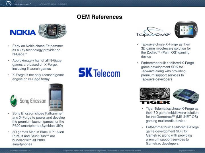 OEM References