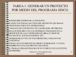 tarea 1 generar un proyecto por medio del programa sinco23