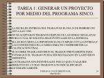 tarea 1 generar un proyecto por medio del programa sinco24