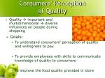 consumers perception of quality