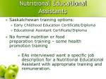 nutritional educational assistants