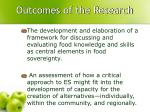 outcomes of the research