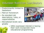 volunteer nutrition coordinators