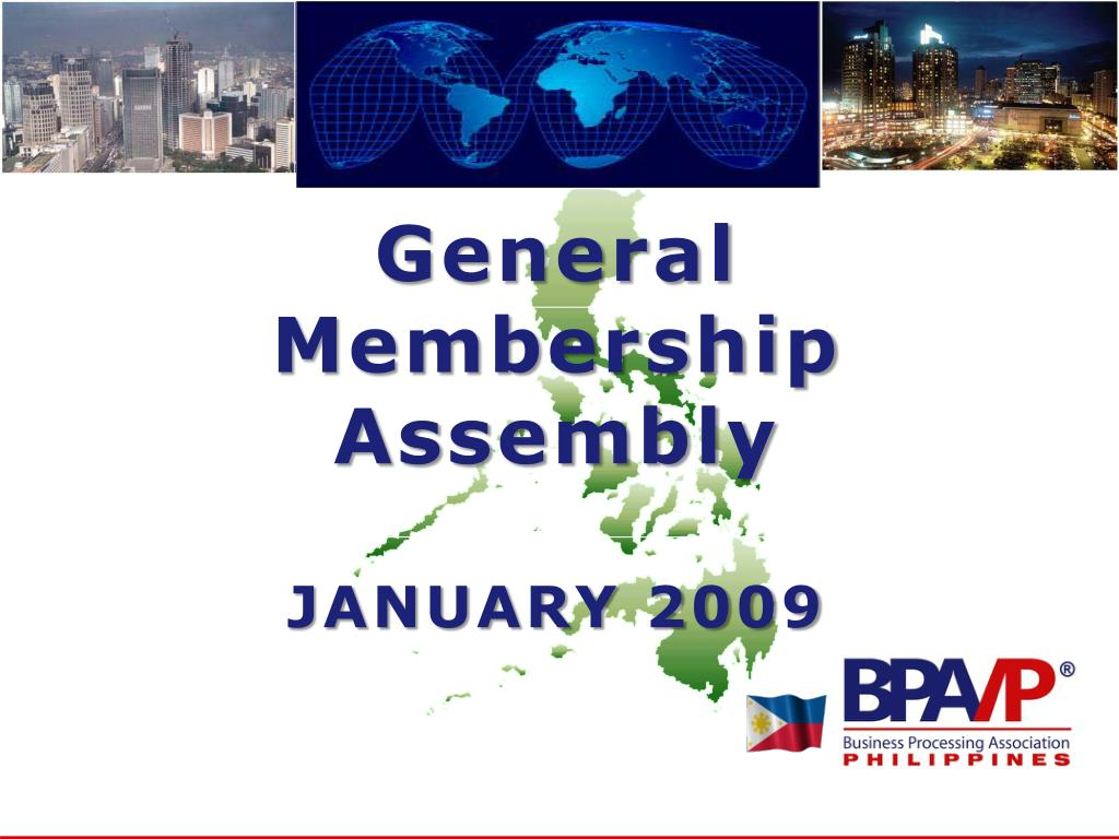 general membership assembly january 2009 l.