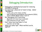 debugging introduction