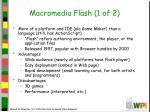 macromedia flash 1 of 2