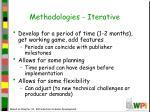 methodologies iterative