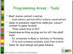 programming areas tools