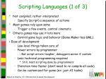 scripting languages 1 of 3