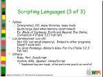 scripting languages 3 of 3