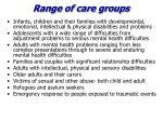 range of care groups