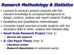 research methodology statistics