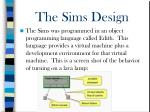 the sims design