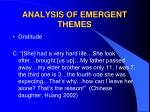 analysis of emergent themes